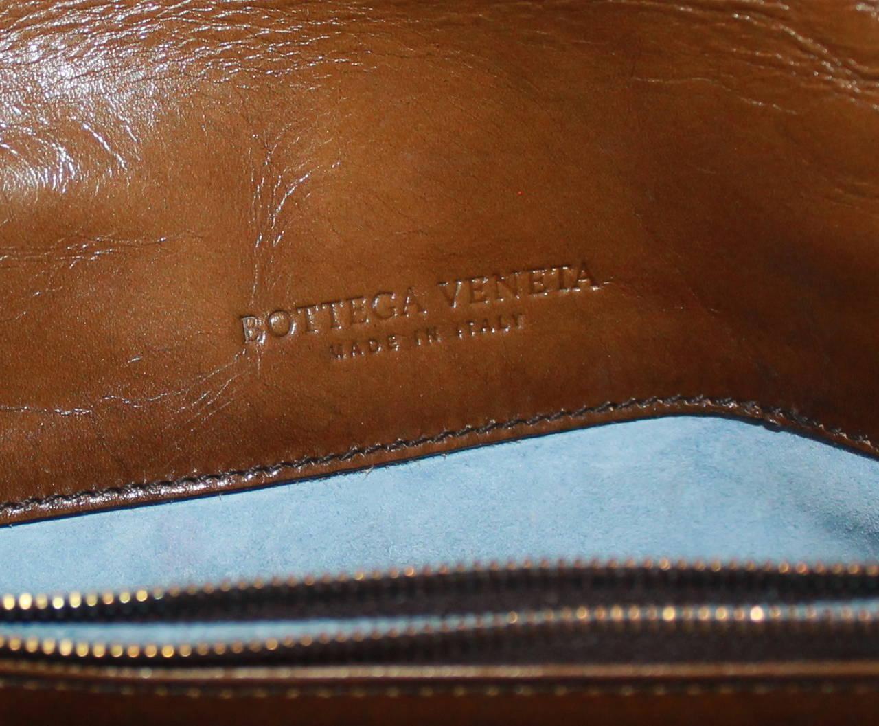 Bottega Veneta Bronze & Brown Braided Leather Clutch 5