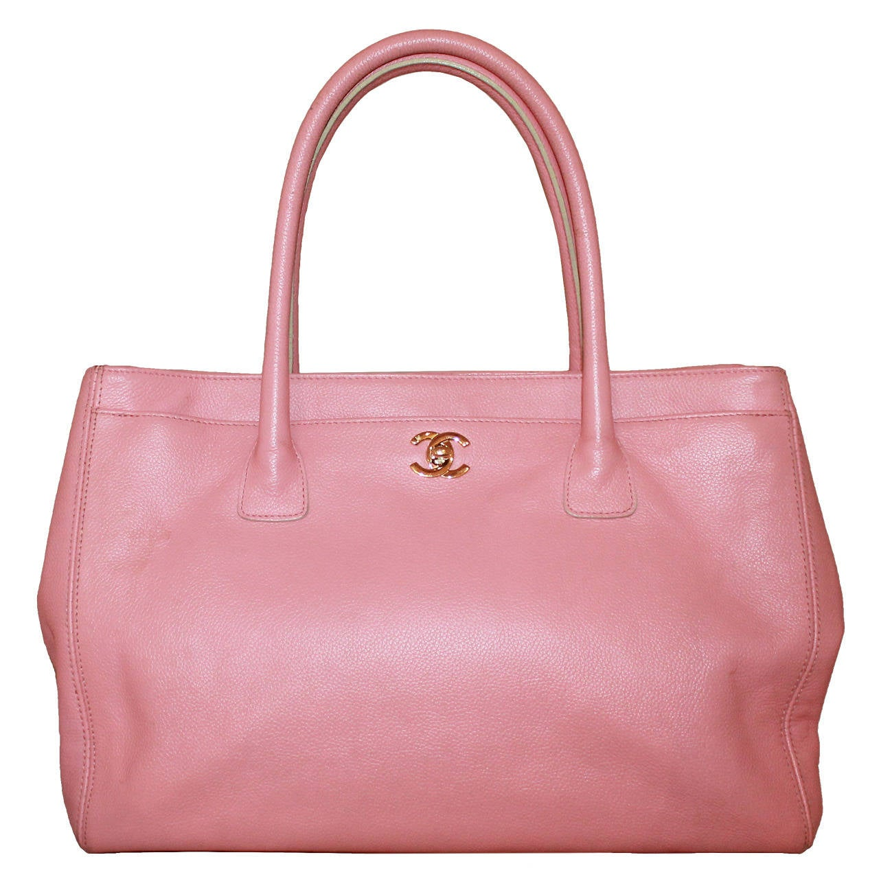 Chanel Vintage Pink Caviar Leather Tote - circa 2005 1
