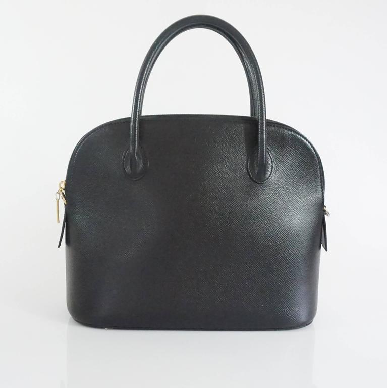 Fendi Vintage Black Leather & Patent Crossbody - Circa 1990s IFGIo8R61