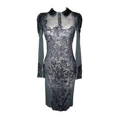 Emilio Pucci Black Lace Sheer Long Sleeve Dress - 6