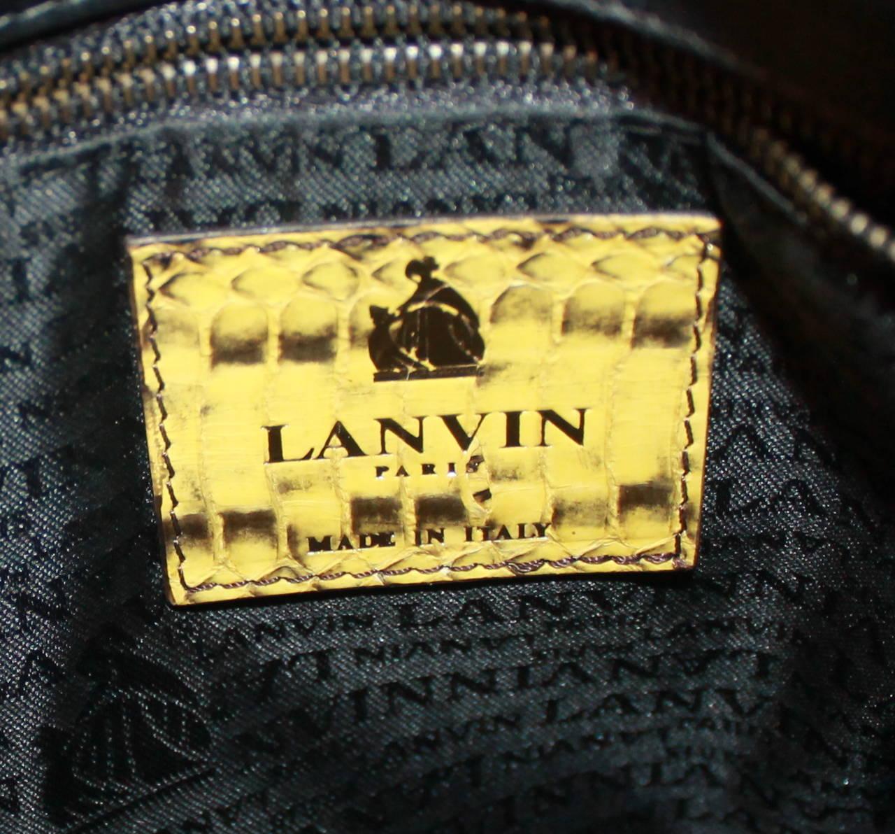 Women's Lanvin Yellow Python Happy Style Handbag - retail $4,500 For Sale