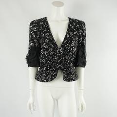 Giorgio Armani Black Beaded Sequin Jacket - 42 - retail $19,995