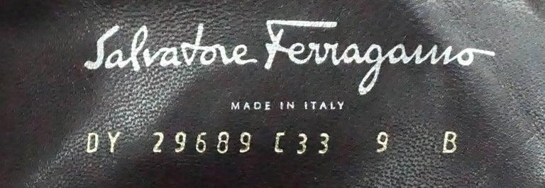 Salvatore Ferragamo Chocolate Brown Leather Short Boot - 9B For Sale 2