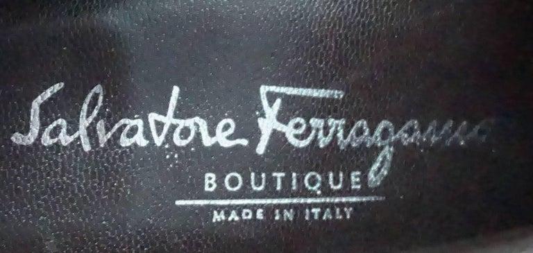 Salvatore Ferragamo Chocolate Brown Leather Short Boot - 9B For Sale 3