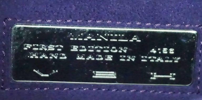 VBH Purple Sparkle Manila Clutch In Excellent Condition For Sale In Palm Beach, FL
