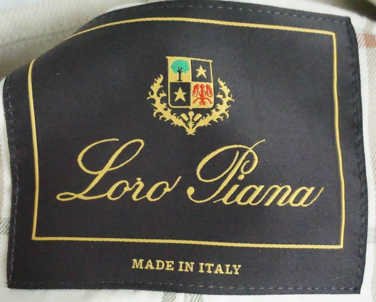 Loro Piana Tan Cotton Jacket - 38 For Sale 1