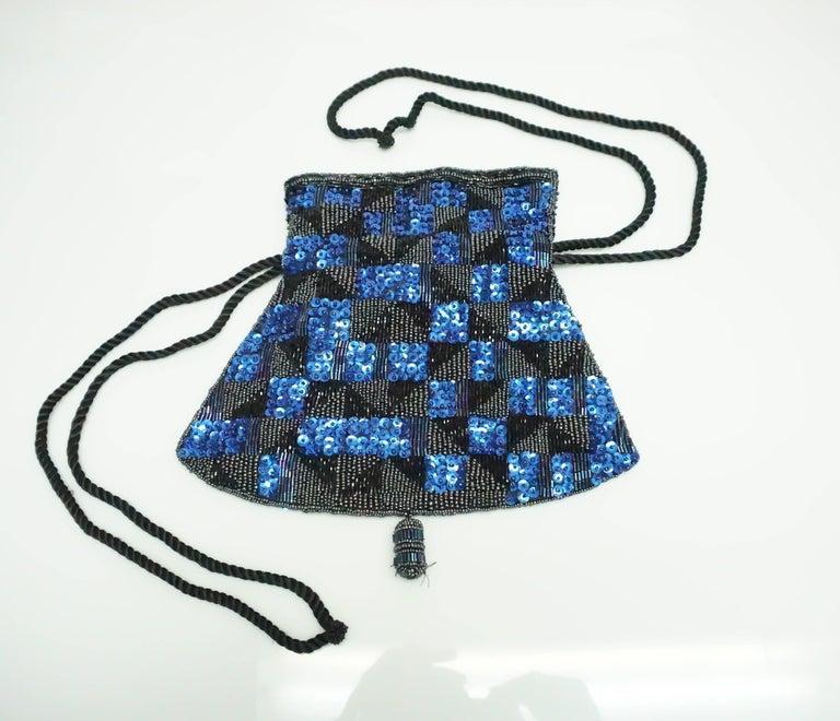 1stdibs Patrick Sweeney Blue And Black Sequin Bag 7Ye8OiTb