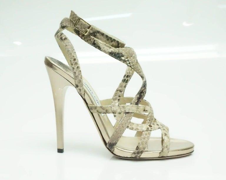 0e5d27224e5b Jimmy Choo Earth tones Snake Sandal - 38.5 These amazing Jimmy Choo snake  skin heels are
