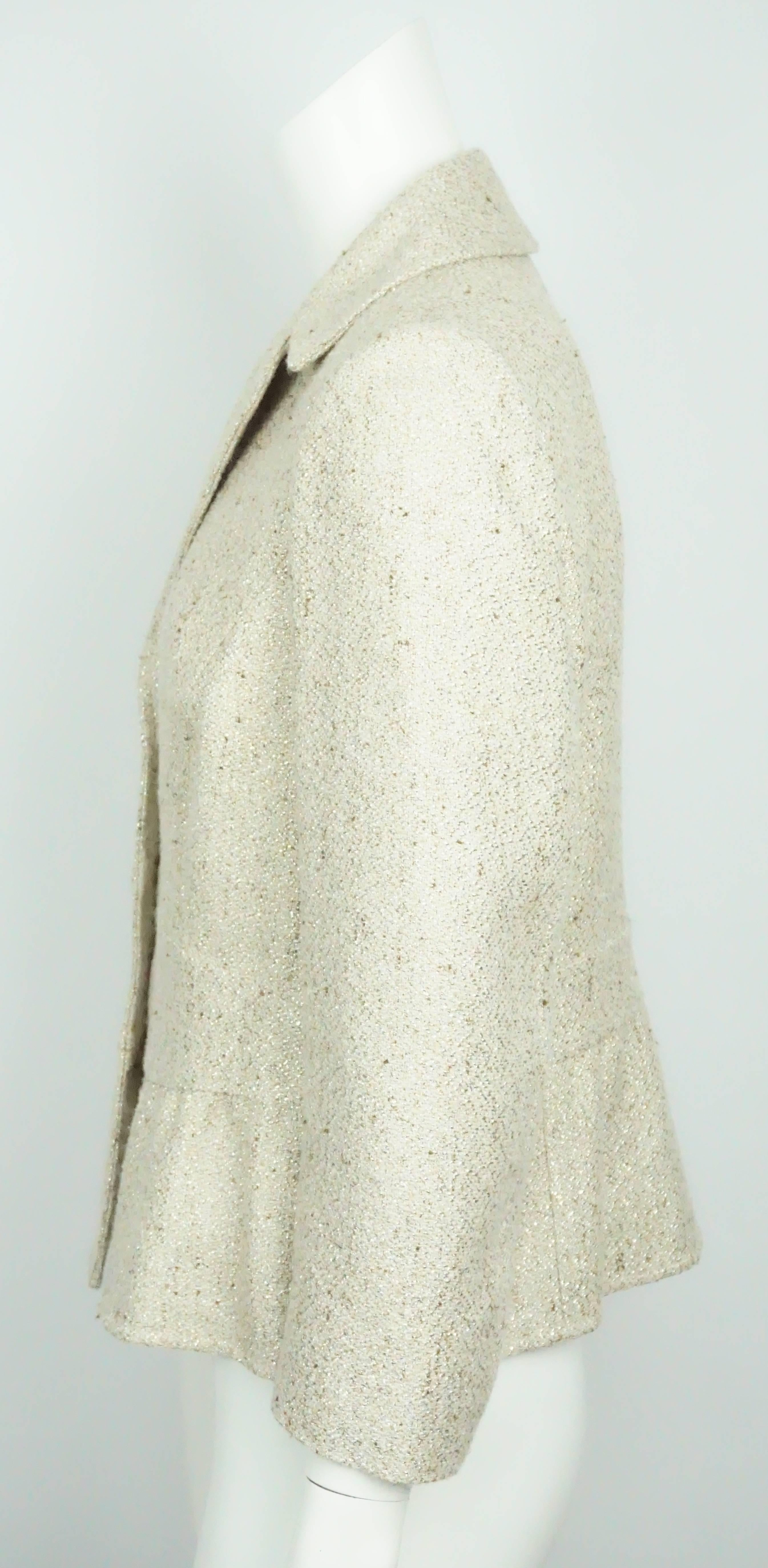 92fdc31a6f5 Valentino Gold Metallic Wool Blend Jacket - 10 For Sale at 1stdibs