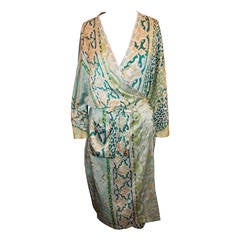 Cavalli Blue & Green Printed Robe - rt. $1995