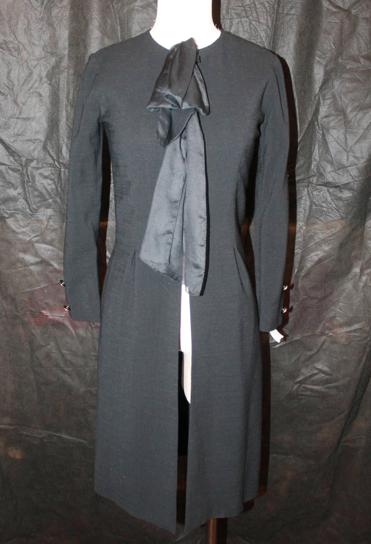chanel 1960 s vintage black equestrian style coat 38 at