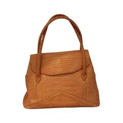Nancy Gonzalez Peach Crocodile Handbag
