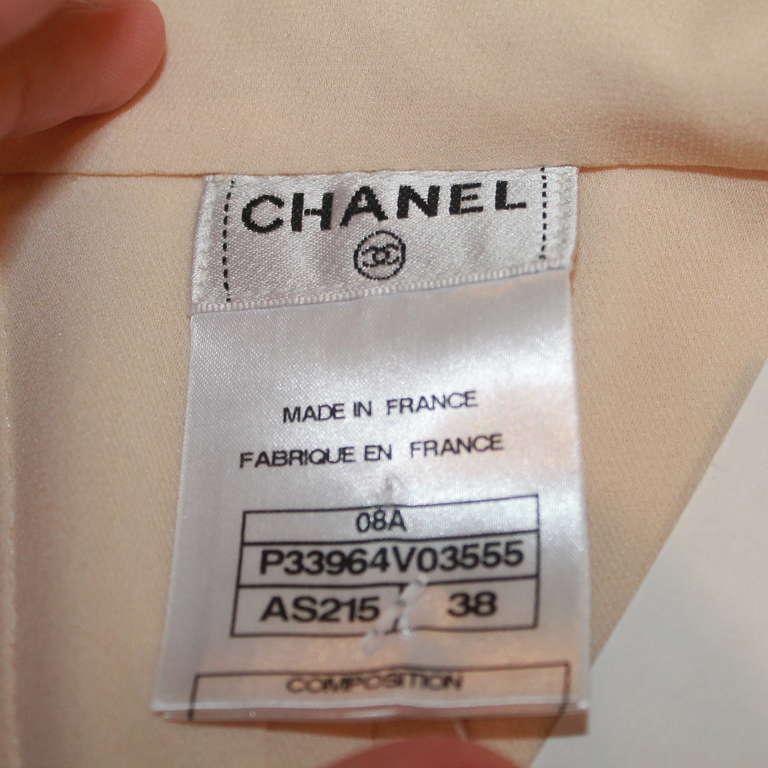 Chanel Ivory Silk Sleeveless shutter pleat top - sz 38 7