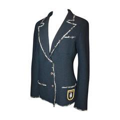 "Chanel 2005 Navy & White ""Devil Wears Prada"" Jacket - 40"