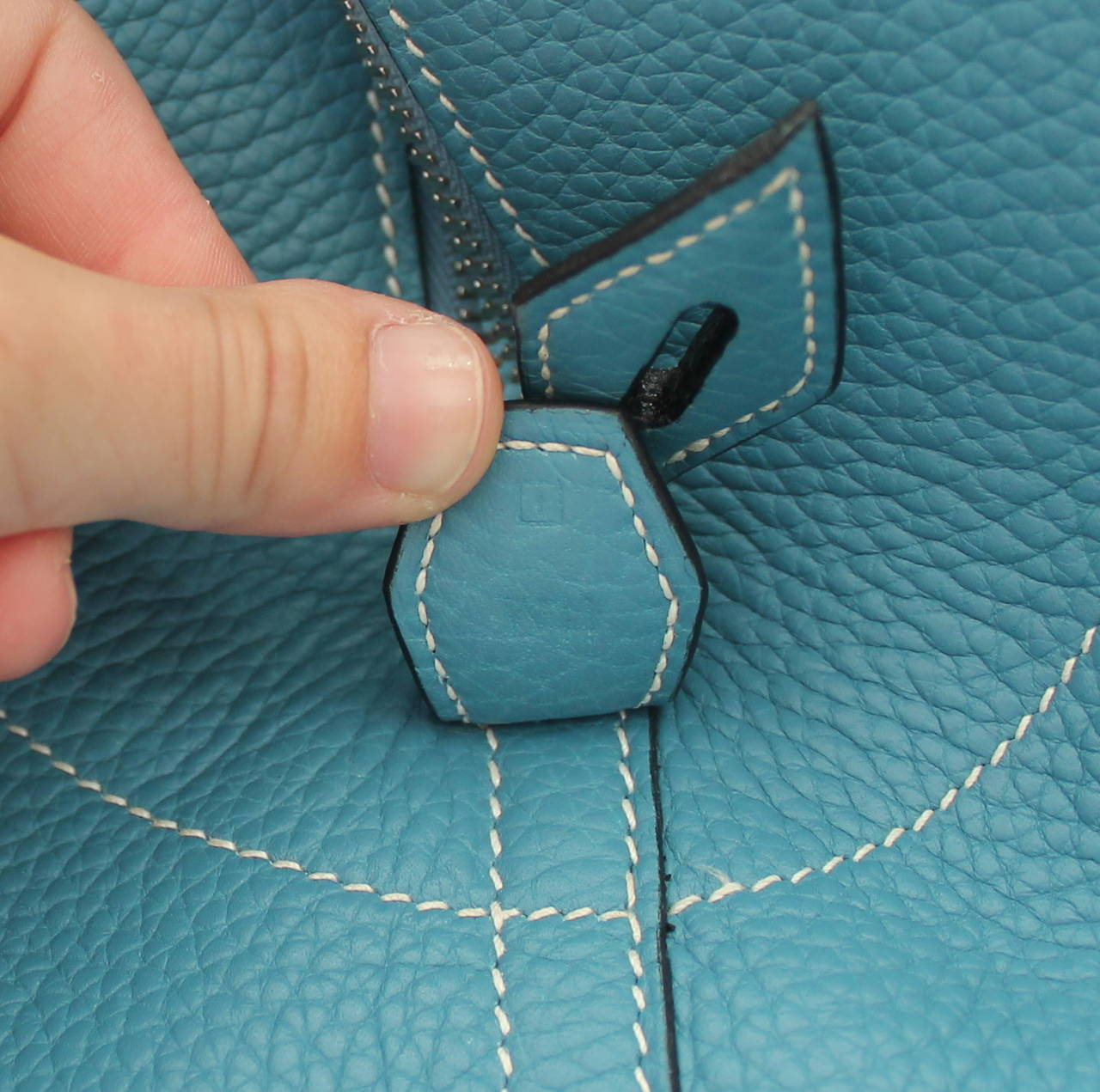 Hermes Blue Jean 47cm Clemence Leather Bolide Travel Handbag circa ...