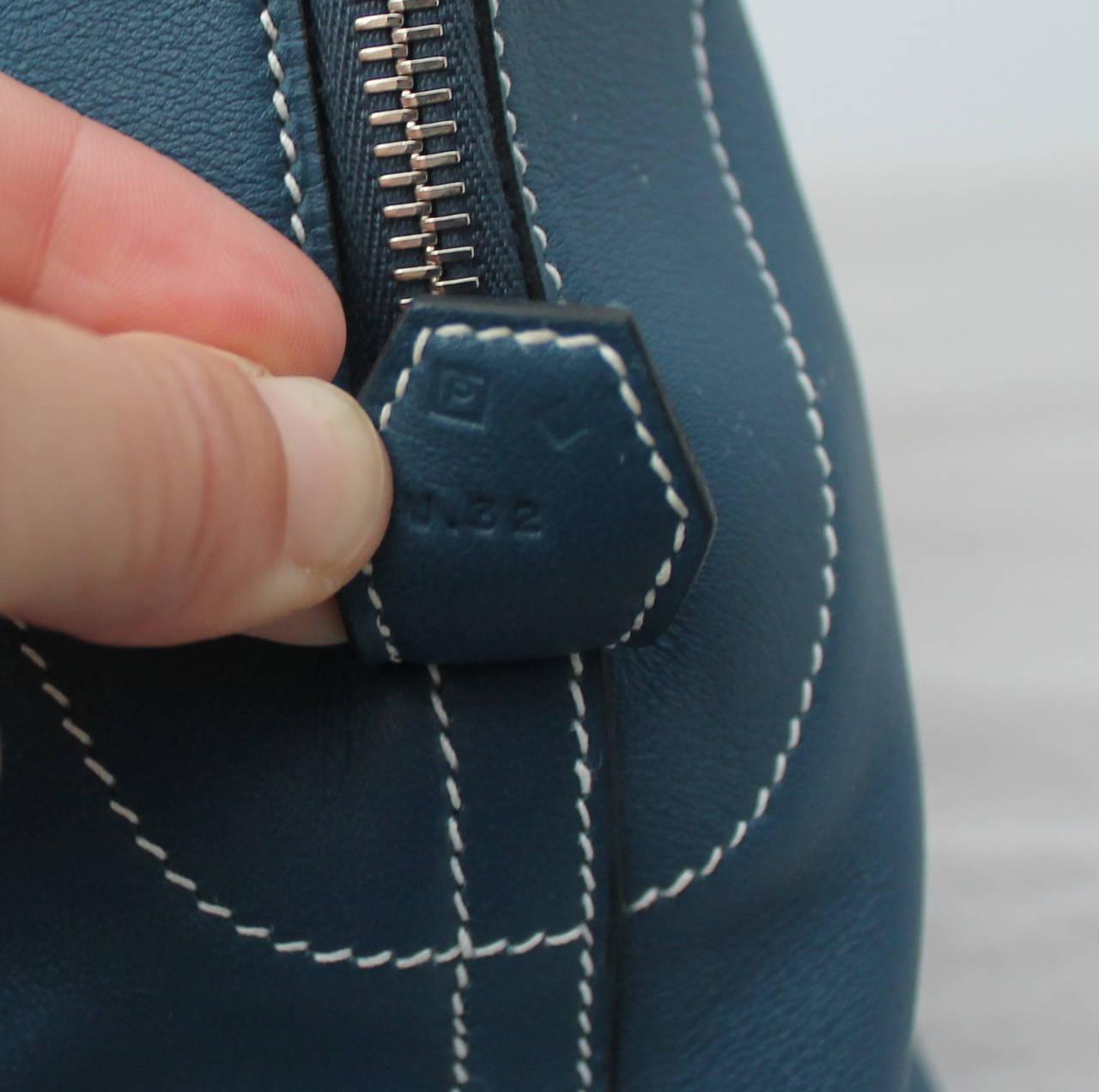 Hermes Thalassa Blue 40cm Veau Swift Bolide Handbag circa 2012 5