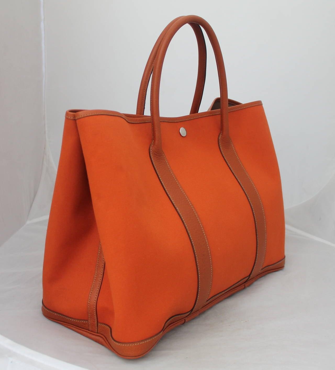 hermes birkin replica cheap - Hermes Burnt Orange Garden Party GM Handbag Retail circa 2006 For ...