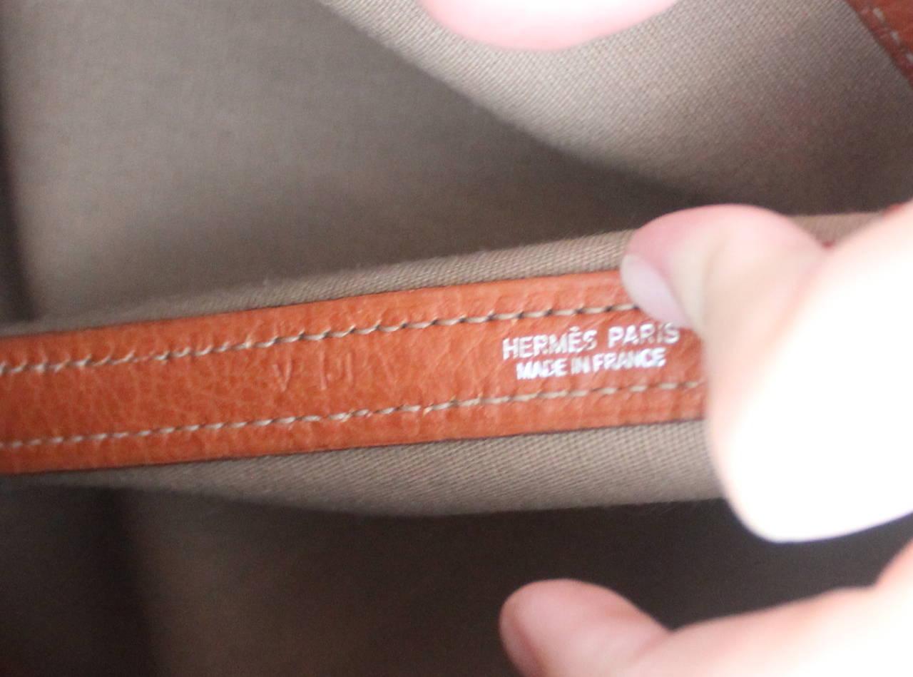 Hermes Burnt Orange Garden Party Gm Handbag Retail Circa