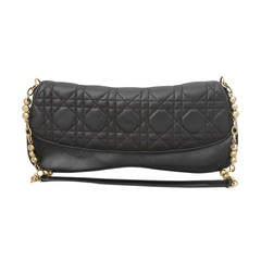 Christian Dior Deep Brown Quilted Shoulder Bag - GHW
