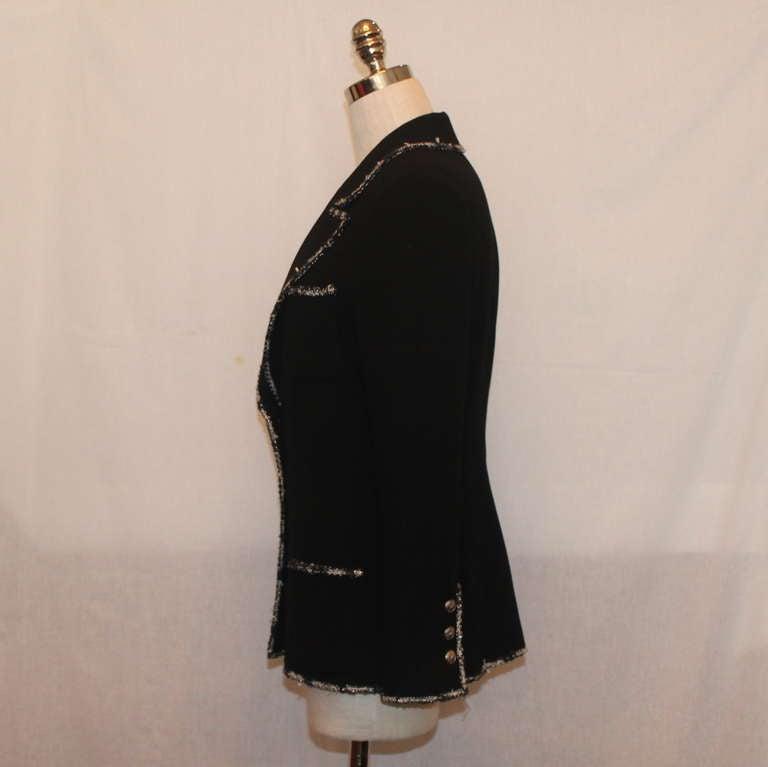 "Chanel black wool ""Devil Wears Prada"" Collection Jacket - 2005 - Sz 40 2"