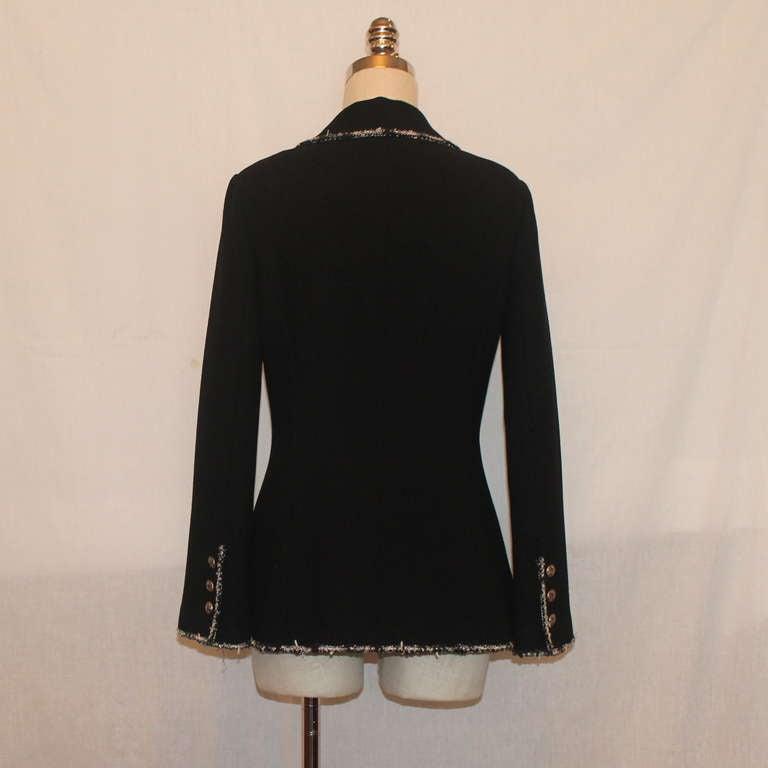 "Chanel black wool ""Devil Wears Prada"" Collection Jacket - 2005 - Sz 40 3"