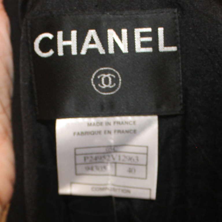 "Chanel black wool ""Devil Wears Prada"" Collection Jacket - 2005 - Sz 40 5"