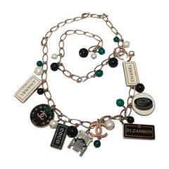 "2006 Chanel Silver Chain ""Automobile Theme"" Belt/Necklace"