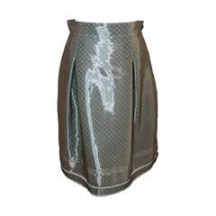 Chanel 2009 Sheer Gunmetal & Lace Layered Skirt - 42
