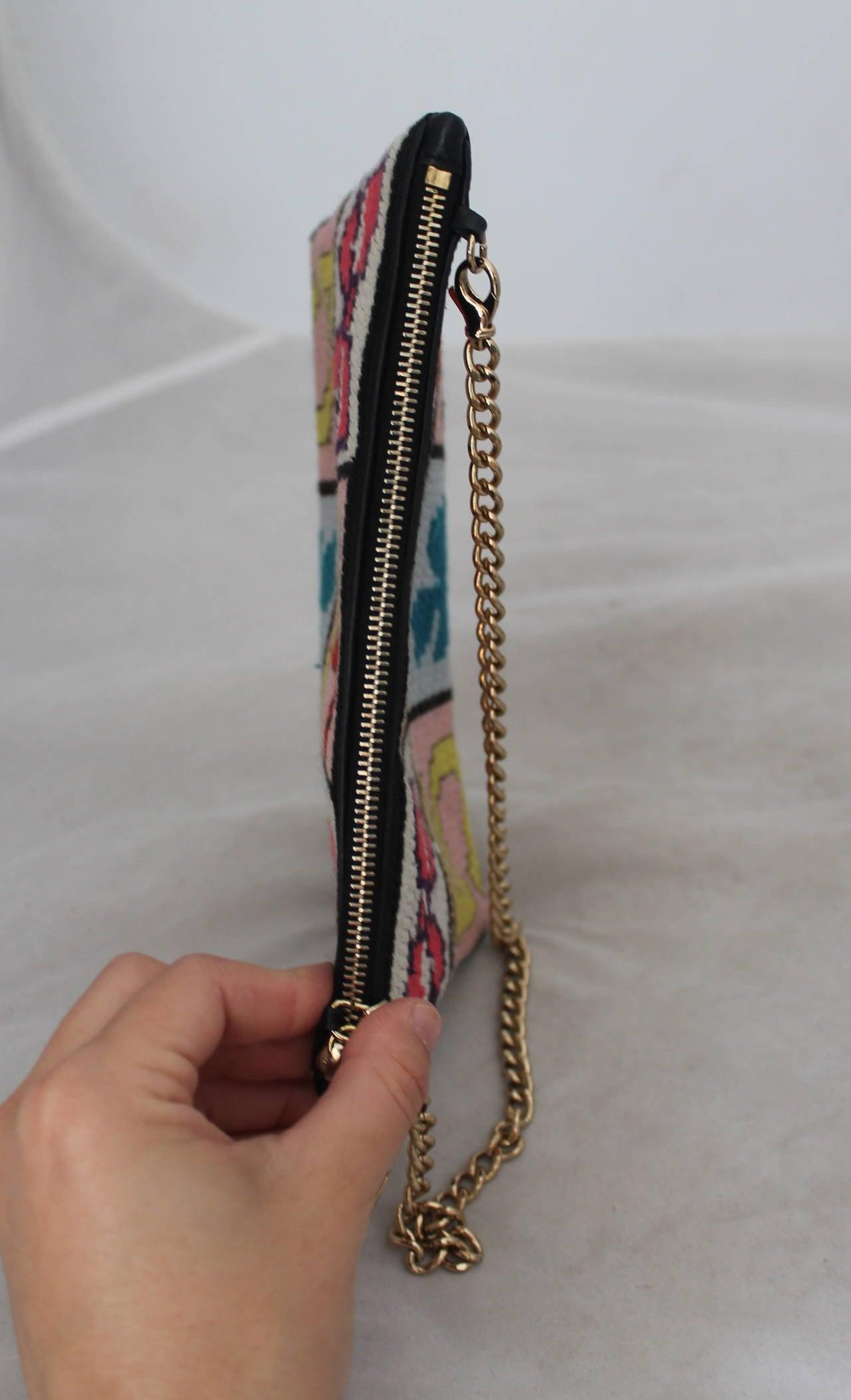 "Chanel Multi Color Needlepoint ""Lucky Charms"" handbag - GHW - Circa 2003 3"