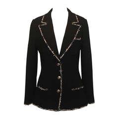 "Chanel black wool ""Devil Wears Prada"" Collection Jacket - 2005 - Sz 40"
