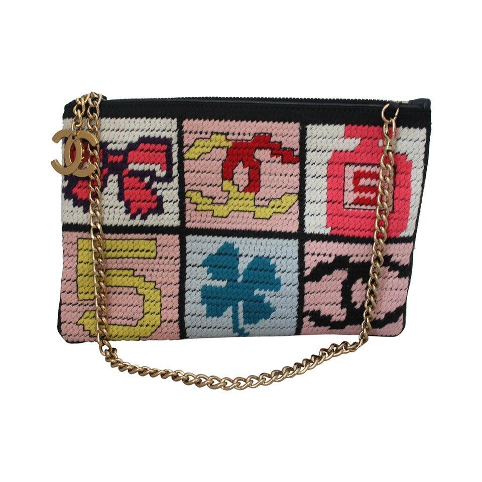"Chanel Multi Color Needlepoint ""Lucky Charms"" handbag - GHW - Circa 2003 1"