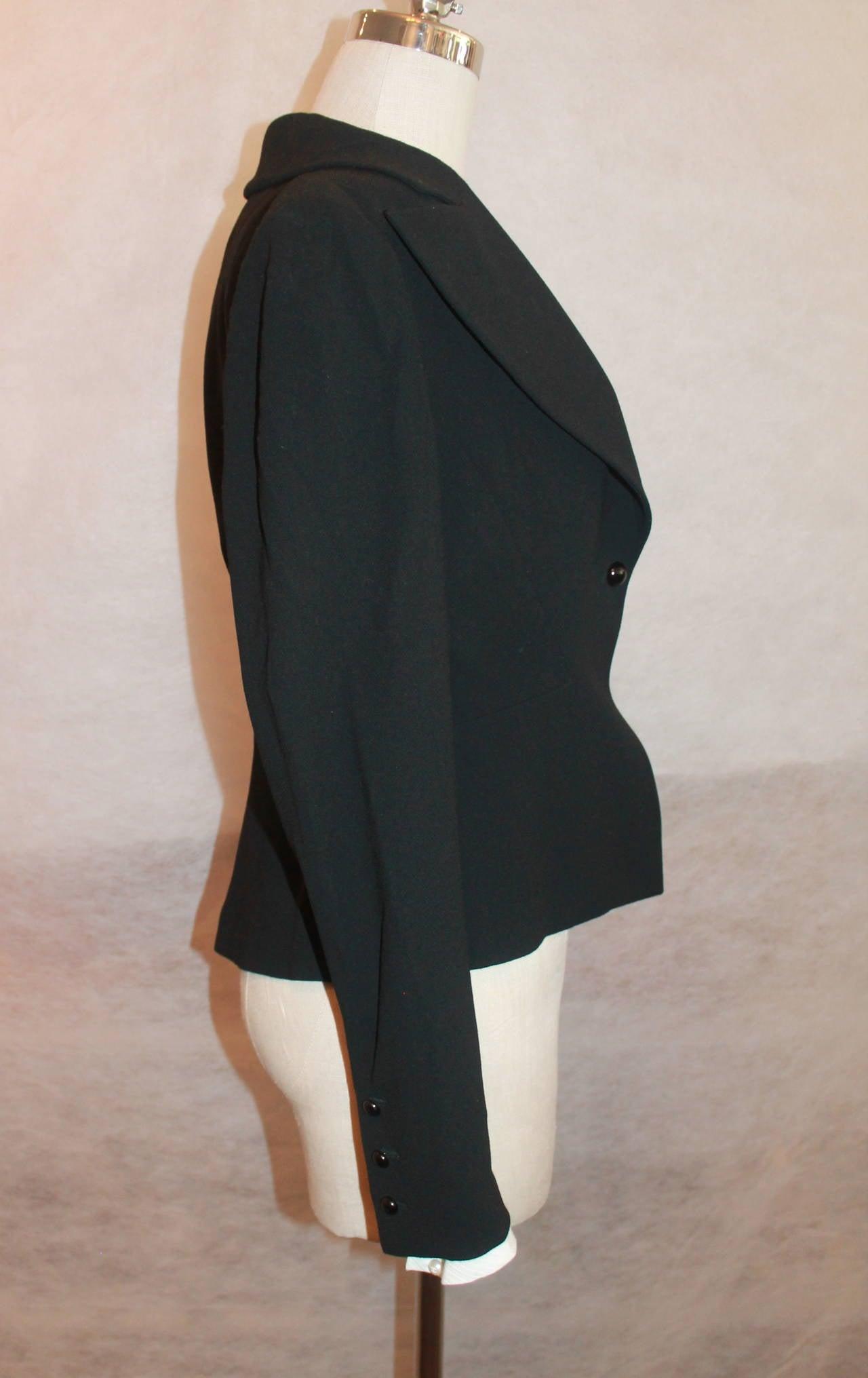 Chanel Black Wool Tuxedo Style Jacket - 40 - NWT 5