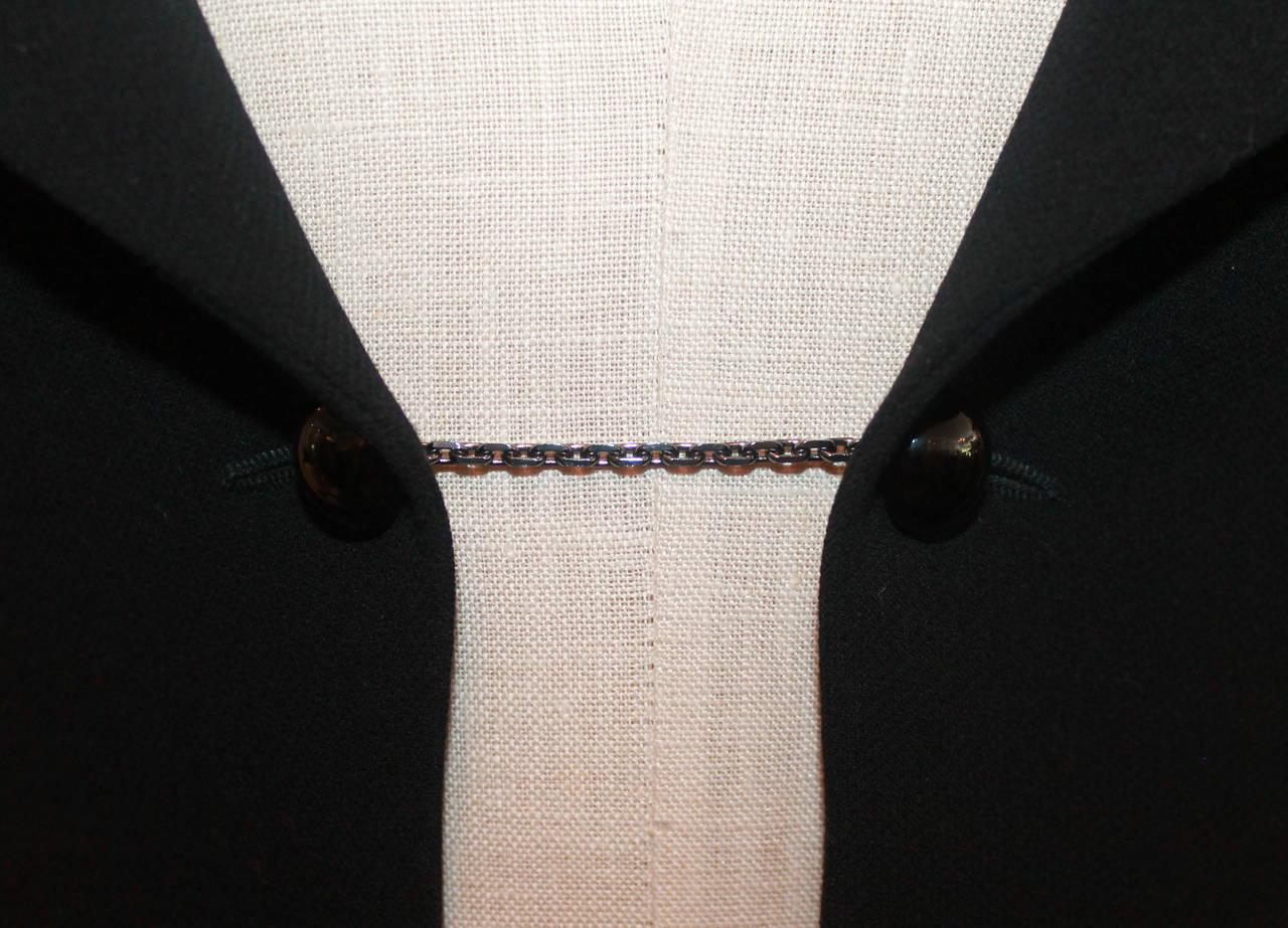 Chanel Black Wool Tuxedo Style Jacket - 40 - NWT 3