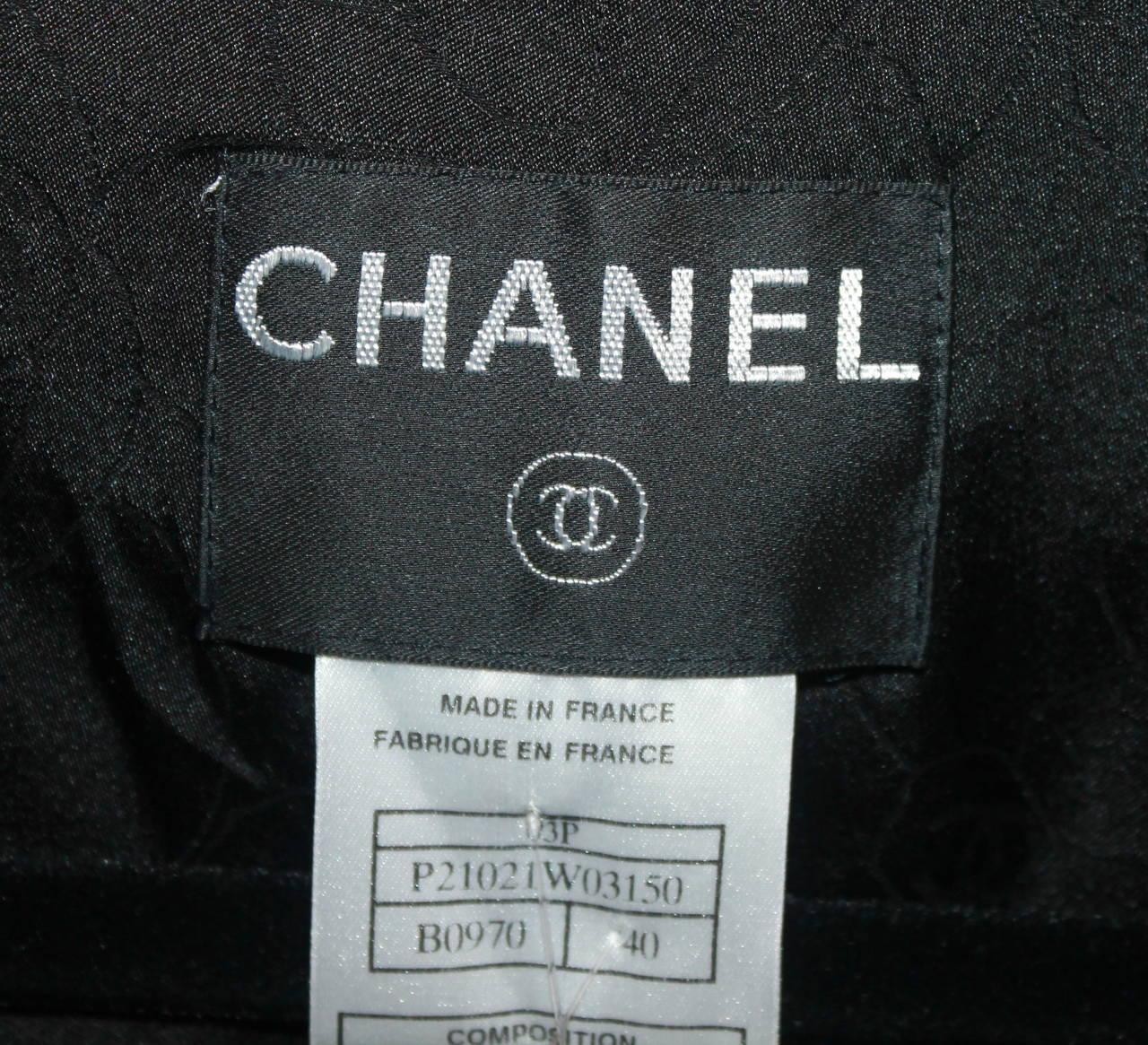 Chanel Black Wool Tuxedo Style Jacket - 40 - NWT 7