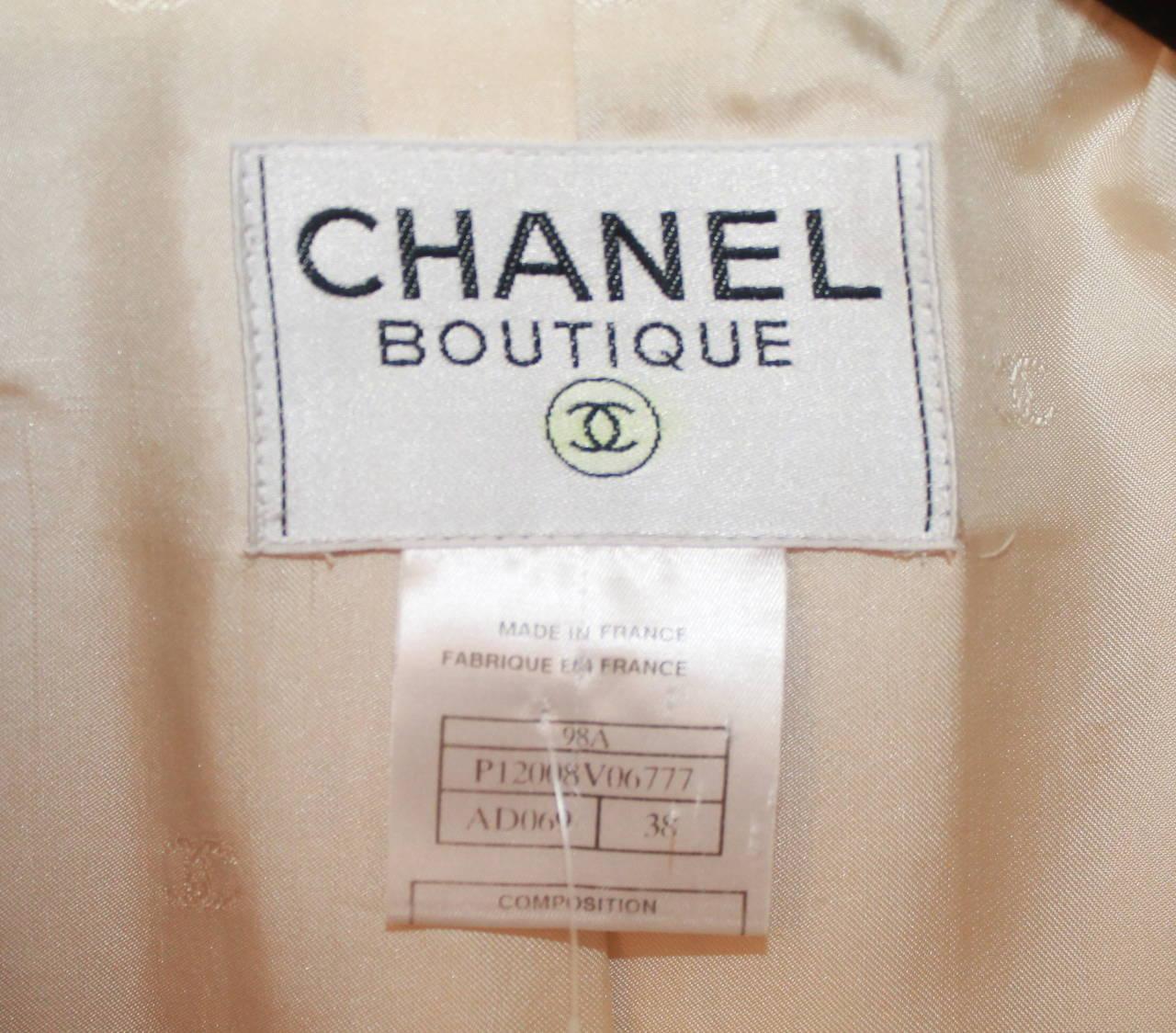 Chanel 1998 Vintage Creme Mohair & Wool Blend Jacket - 38 7