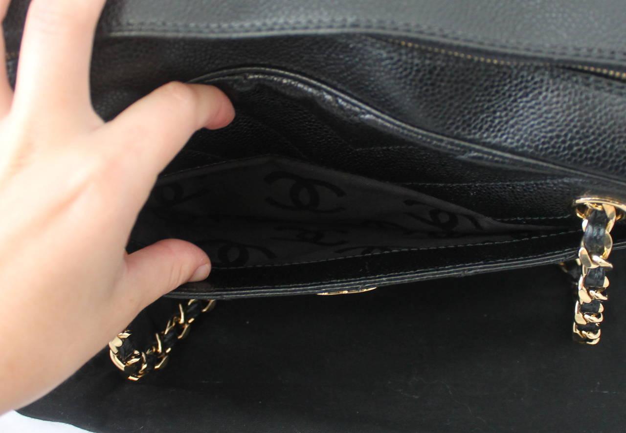 1bdba81abab336 Chanel 2002 Black Caviar Chevron Quilted Camera Case Bag For Sale 4
