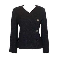 Chanel Navy Shimmer Jacket - 38