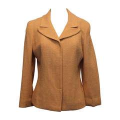 Chanel Peach & Cream Tweed Jacket - 38