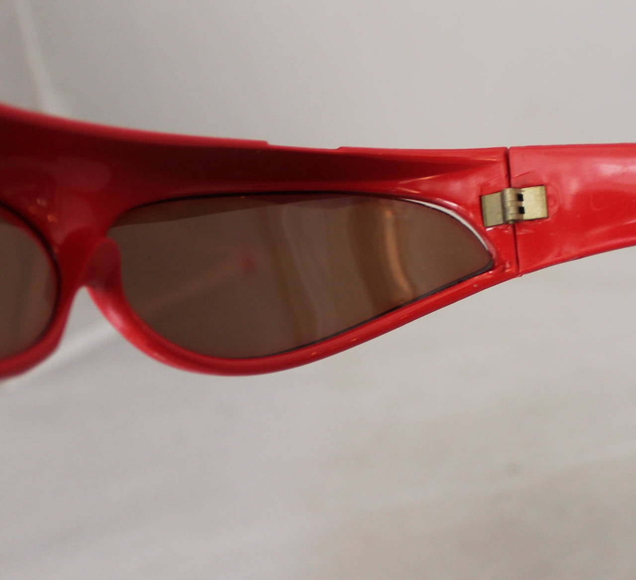1960's Parisian Vintage Red Geometric Frame Sunglasses 6