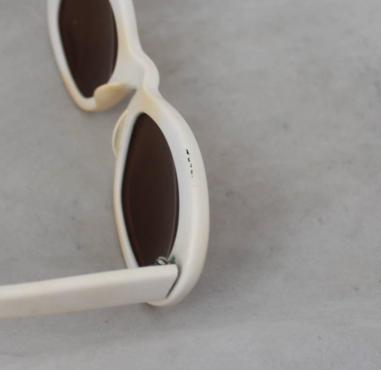 Azzedine Alaia 1990's Vintage White Frame Sunglasses 7
