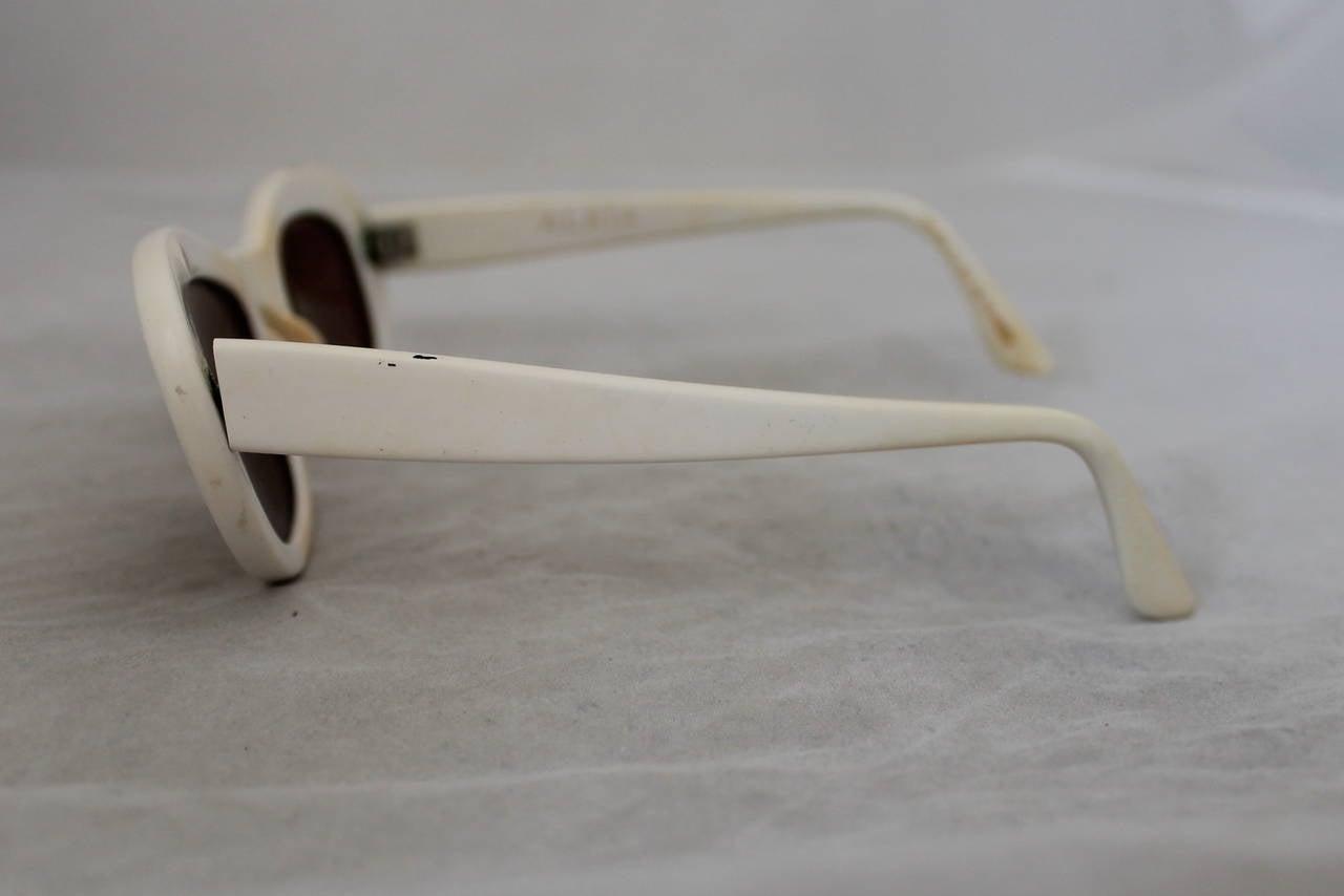 Azzedine Alaia 1990's Vintage White Frame Sunglasses 6