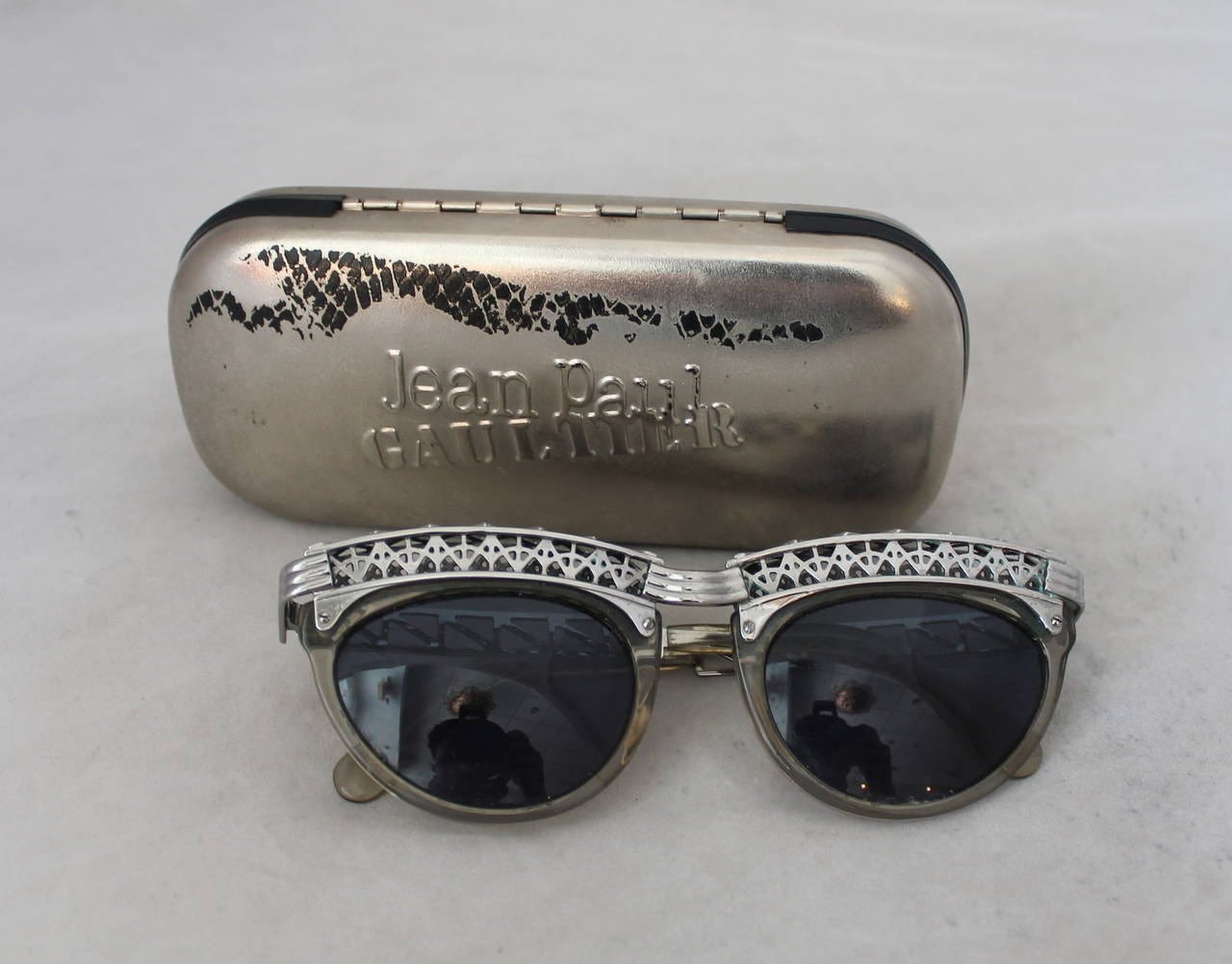 Jean Paul Gaultier 1980's Vintage Eiffel Tower Sunglasses For Sale 3