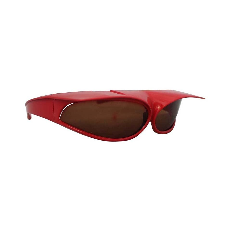1960's Parisian Vintage Red Geometric Frame Sunglasses 1
