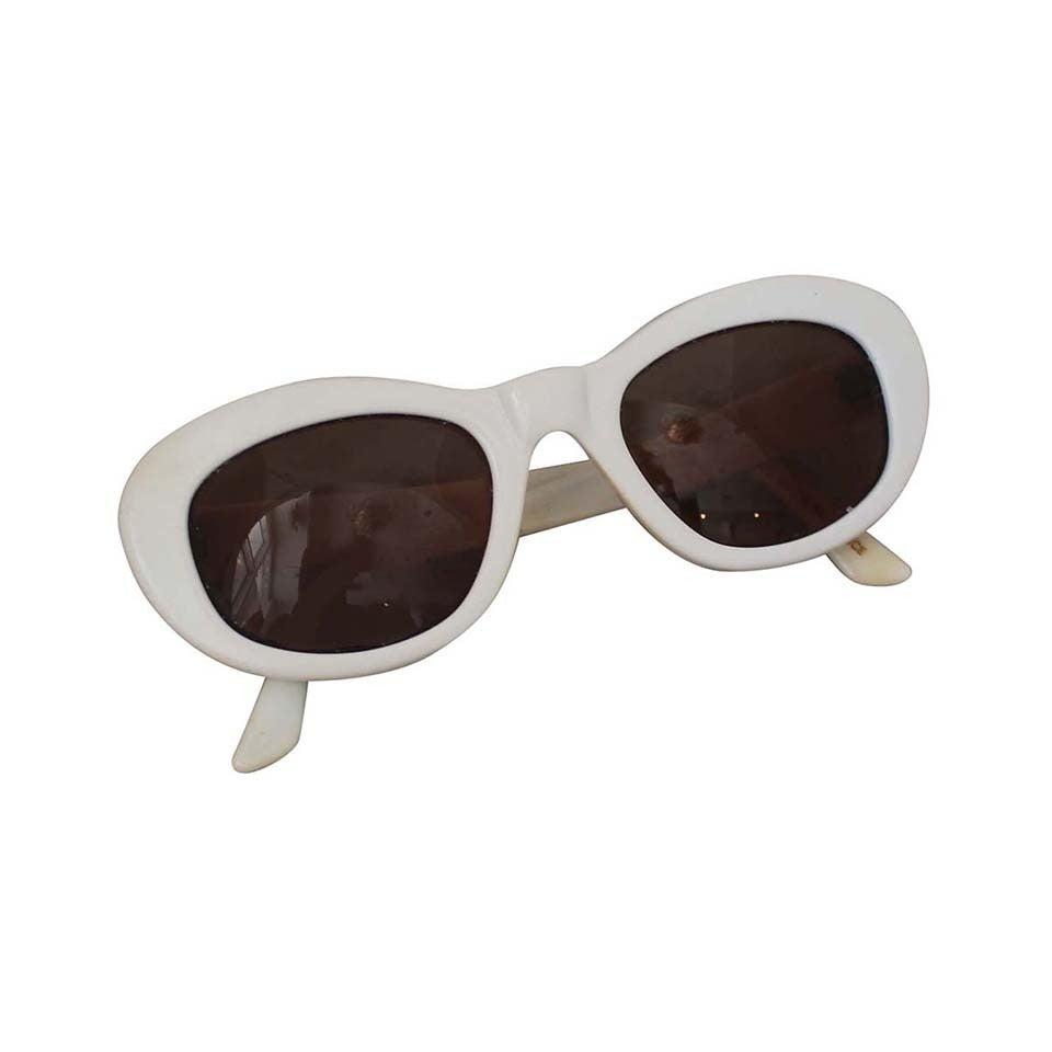 Azzedine Alaia 1990's Vintage White Frame Sunglasses 1