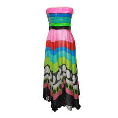 Jenny Packham Silk Sequin Multi Dress - S