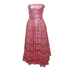 Jenny Packham Pink Silk Organza Dress - S