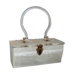 purses prada sale - prada bronze leather handbag w side ruffles brown glitter enamel ...