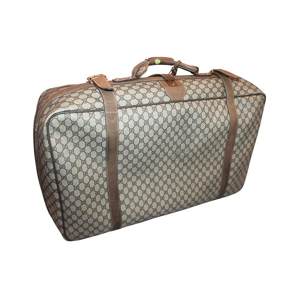 gucci luggage. gucci vintage 1980\u0027s printed monogram luggage piece 1