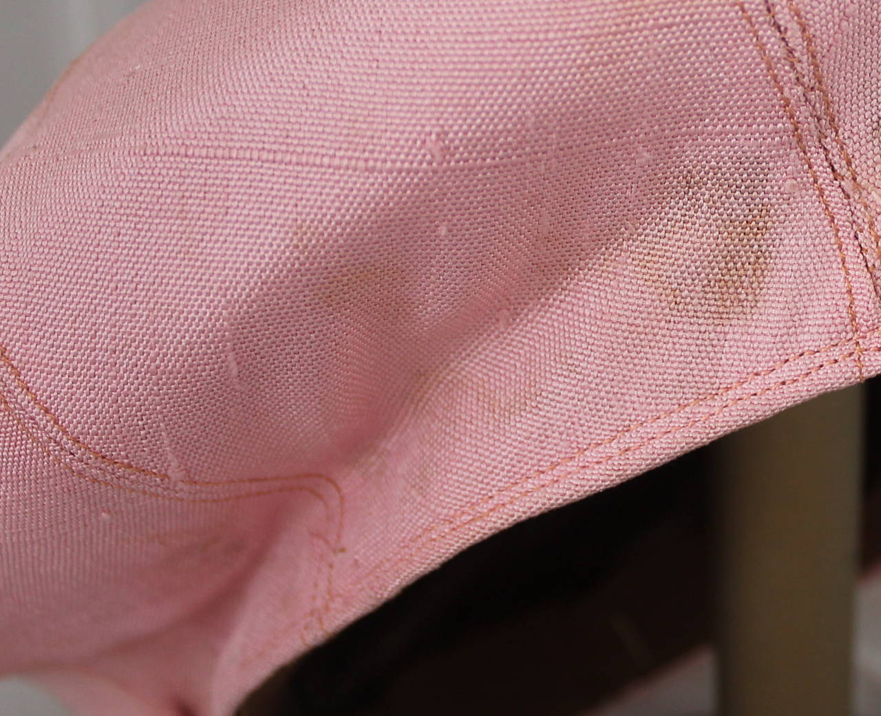 Norman Norell 1960's Vintage Silk Pink Driving Cap For Sale 2