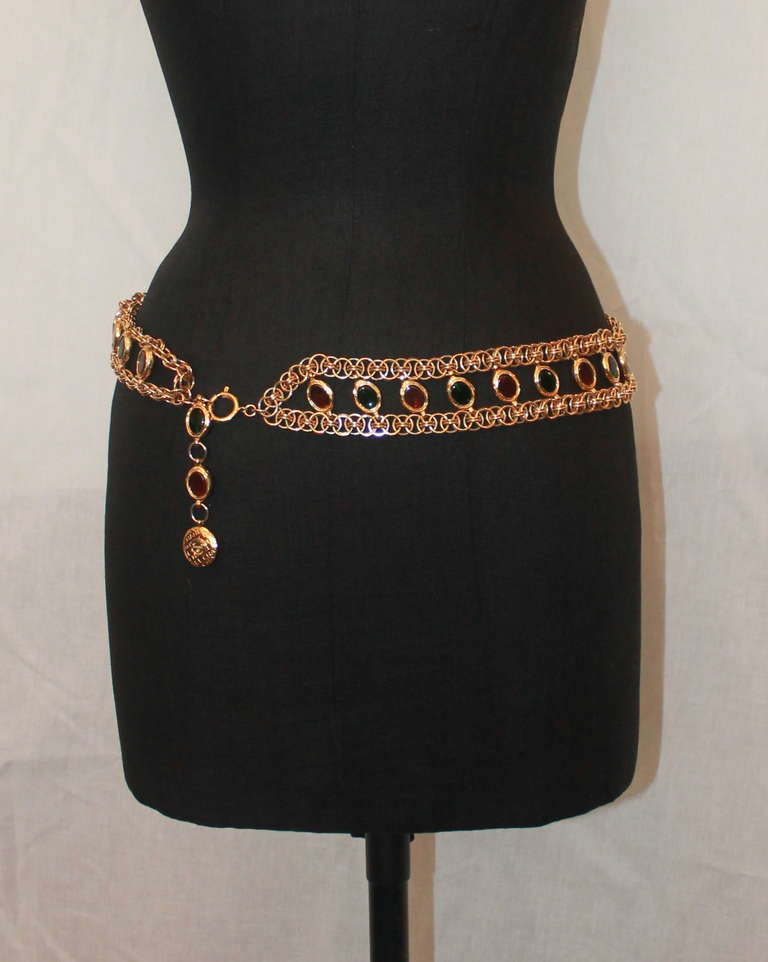 Chanel Goldtone Gripoix Chain Belt - Circa Late 70's - Runway piece 3